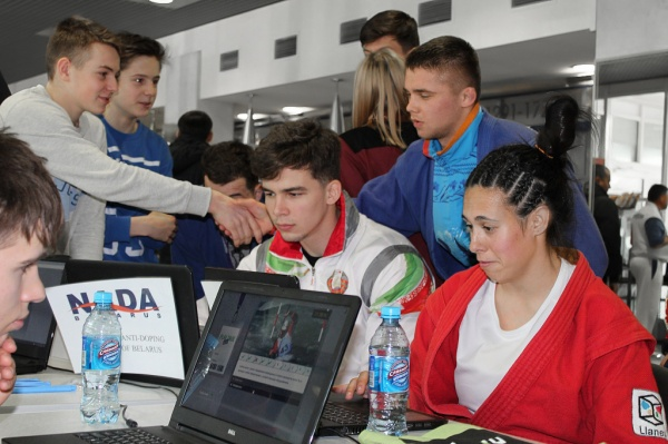 OUTREACH quiz at Belarus Sambo Championships.